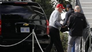 Perezida Donald Trump asubira mu biro bye bya White House, nyuma yo gukina umukino wa golf ku wa gatandatu