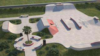 Skate park artistic impression