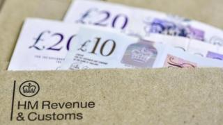 Cash in HMRC envelope