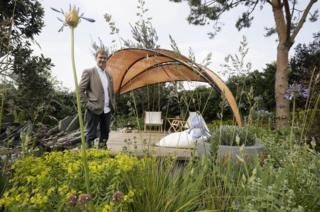 Joe Perkins, landscape architect of The Facebook Garden at Chelsea Flower Show
