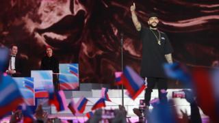 Тимати на праздничном концерте на Красной площади, посвященном Дню России