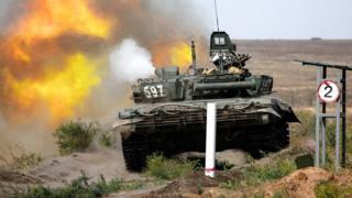 Российский танк Т-72Б3.