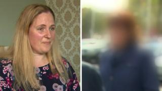 Mandy Trowbridge and a anomyous mother who spoke to BBC Newsline about their experiences with cyberbullying
