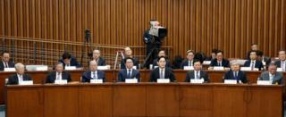 Business leaders attend the parliamentary hearing in Seoul (6 Aug 2016)