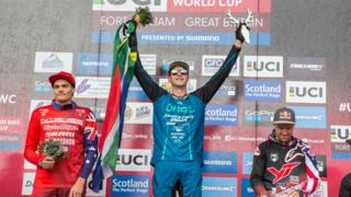 Fort William Mountain Bike World Cup Cuach na Cruinn son Baighsagalan Beinne sa Ghearasdan