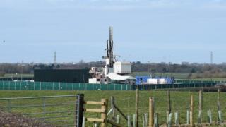 Drilling equipment at the Preston New Road drill site