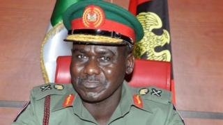 Nigeria's army chief Lt Gen Tukur Buratai, 16 July 2015