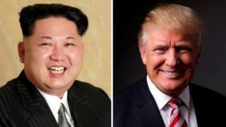 Kim Jong-un iyo Donald Trump
