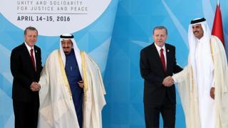 Erdoğan, Katar Emiri ve Suudi kralı ile