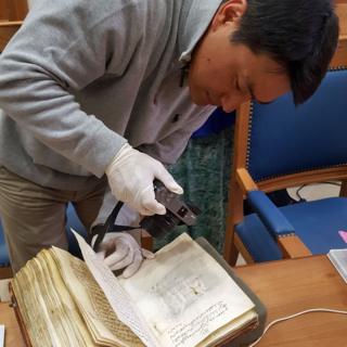 Hidden writing in ancient desert monastery manuscripts