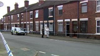 Police in Packett Street, Stoke-on -Trent