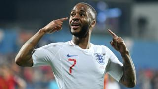 Sterling put his fingers to his ears in response to racist chanting during England's game against Montenegro.