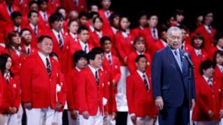 Ёсиро Мори и олимпийская сборная Японии