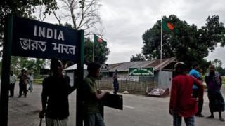 লালমনিরহাটে ভারত-বাংলাদেশ সীমান্তে একটি চেকপোস্ট