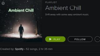 Spotify Ambient Chill playlist