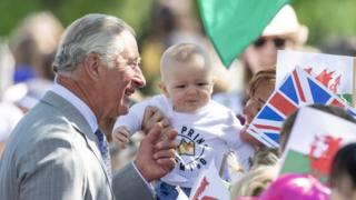 Prince Charles meets people in Swansea