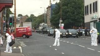 Forensic team at the scene