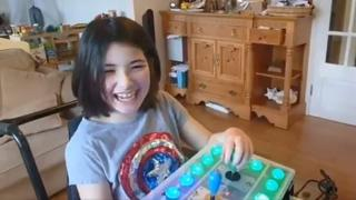 Ava Steel with her controller