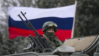 Российский солдат в Балаклаве