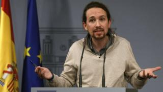 Podemos leader Pablo Iglesias, 28 Dec 15