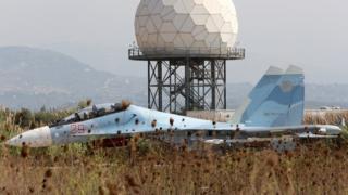 Су-30 на базе Хмеймим в 2015 году