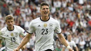 Germany's Mario Gomez headed the only goal of the match