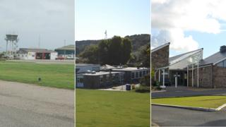 Alderney Airport, St Anne's School and Mignot Memorial Hospital