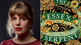 Sarah Perry and her novel's book jacket