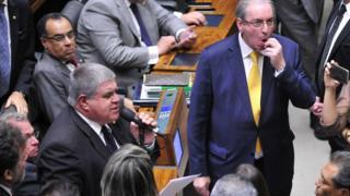 Carlos Marun falando na sessão que resultou na cassação de Cunha