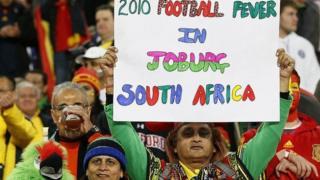 مشهد من بطولة كأس العالم لكرة القدم عام 2010 في جنوب أفريقيا