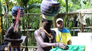 Upe men casting their votes