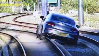 Car on tracks