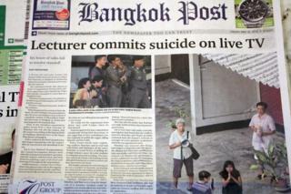 Front page of Bangkok Post