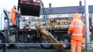 Council workers recovered the scarecrow on Wednesday morning