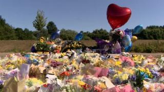 Tributes left at scene