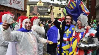 French fans in Cardiff for the 2015 Rugby World Cup