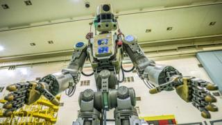Russia launches life-sized robot into space