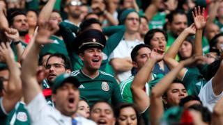Aficionados de México en Moscú