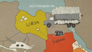 Ruth travelled by lorry to Libya