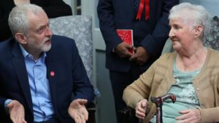 Jeremy Corbyn on a visit to Bedford's Guild House