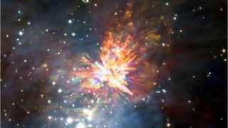 صورة لبقايا انفجار ناتج عن تصادم نجمين يافعين قبل 500 عام