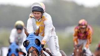 Dido Harding rides Duck and Dumplings to victory