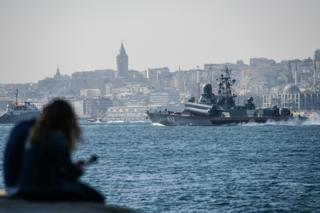 Russian corvette Mirazh passes through Istanbul en route for Syria