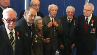 The seven British Normandy veterans