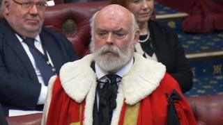 Sir Robert Rogers being sworn in as Lord Lisvane