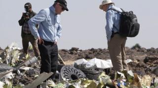 Débris de l'avion d'Ethiopian Airlines