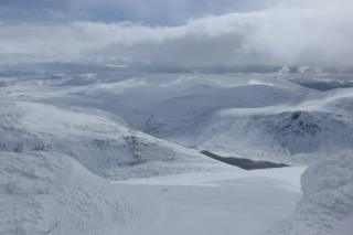 Looking South to Bein Avon in Cairngorms