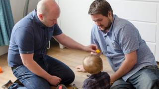 Graham and Tyrone Williams with their son Ollie