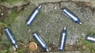 Gas cannisters used in the alleged attack