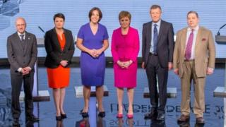 The same six Scottish leaders took part in a BBC debate in the run-up to last year's Scottish Parliament elections